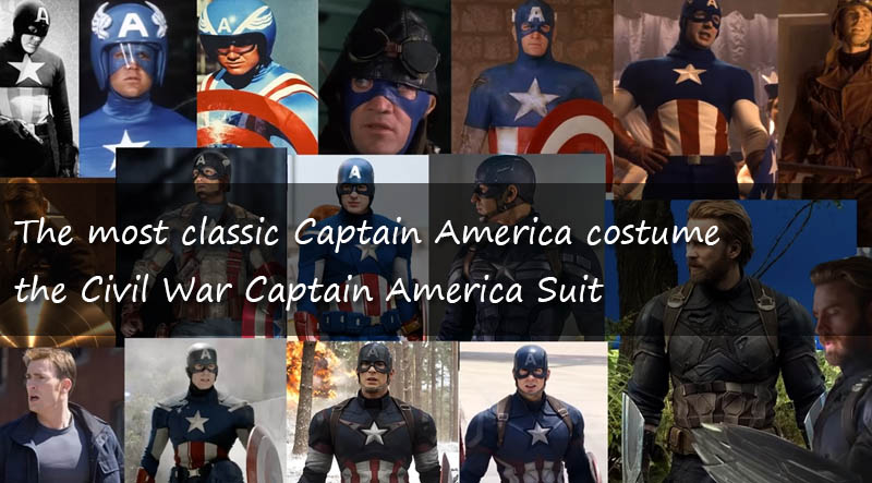 The most classic Captain America costume - the Civil War Captain America Suit