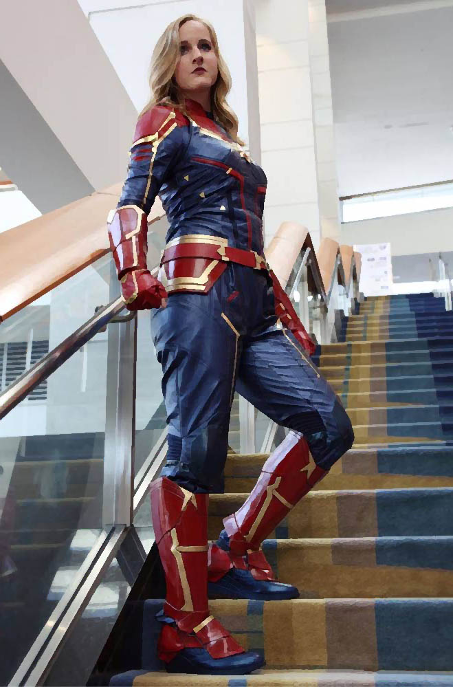 captain marvel cosplay movie version