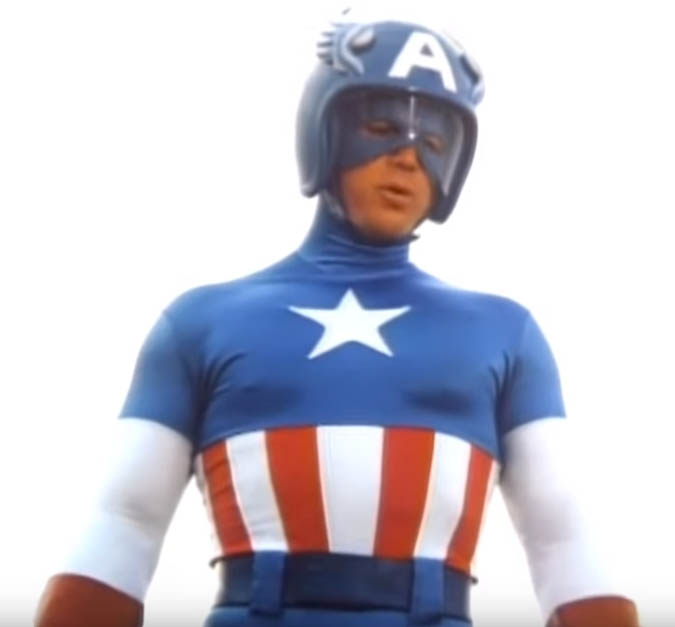 the old classic movie captain america suit