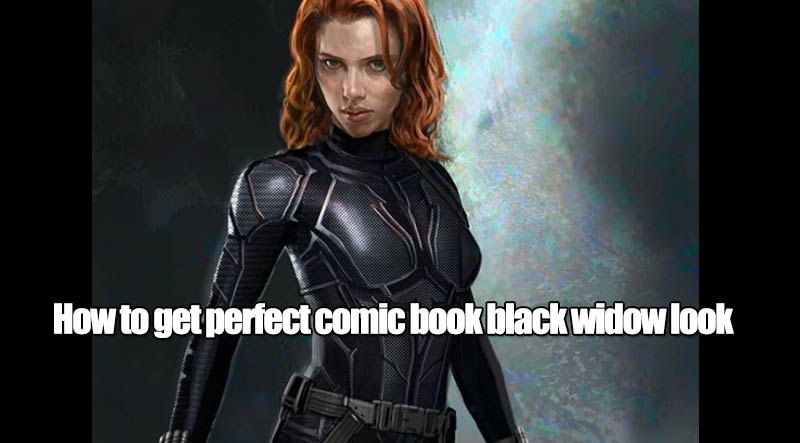 How to get perfect comic book black widow look